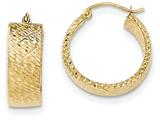 14k Bright Cut Hoop Earrings style: TF579