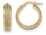 14k With Glitter Hoop Earrings style: TF581