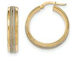 14k With Glitter Hoop Earrings style: TF582