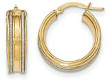 14k With Glitter Hoop Earrings style: TF584