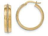 14k With Glitter Hoop Earrings style: TF585