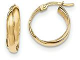 14k Gold Polished Hoop Earrings style: TF586