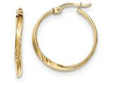 14k Gold Polished Hoop Earrings style: TF588