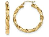 14k Light Twisted Hoop Earrings style: TF589