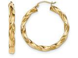 14k Light Twisted Hoop Earrings style: TF589