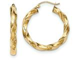14k Light Twisted Hoop Earrings style: TF590