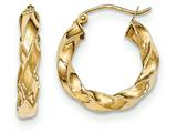 14k Light Twisted Hoop Earrings style: TF592