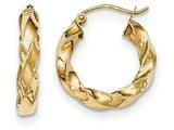 14k Light Twisted Hoop Earrings style: TF592