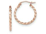 14k Rose Gold Twisted Hoop Earrings style: TF604