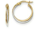 14k Two-tone Polished Hoop Earrings style: TF607