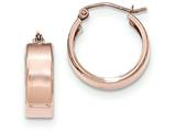 14k Rose Gold Polished Hoop Earrings style: TF616