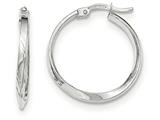14k White Gold Polished Hoop Earrings style: TF634