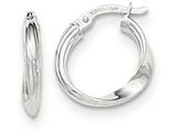 14k White Gold Polished Hoop Earrings style: TF635