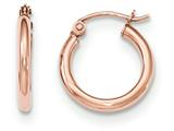 14k Rose Gold Light Weight Hoop Earrings style: TF652