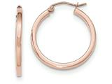 14k Rose Gold Light Weight Square Tube Hoop Earrings style: TF736