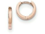 14k Rose Gold Hinged Hoop Earrings style: TF761