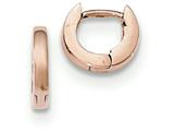 14k Rose Gold Hinged Hoop Earrings style: TF762