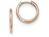 14k Rose Gold Hinged Hoop Earrings style: TF764