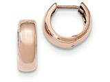 14k Rose Gold Hinged Hoop Earrings style: TF766