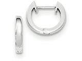 14k White Gold Hinged Hoop Earrings style: TF768