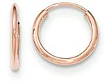 14k Rose Gold Polished Endless Tube Hoop Earrings style: TF781