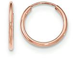 14k Rose Gold Polished Endless Tube Hoop Earrings style: TF782