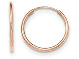 14k Rose Gold Polished Endless Tube Hoop Earrings style: TF783