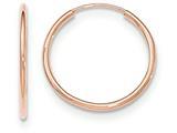 14k Rose Gold Polished Endless Tube Hoop Earrings style: TF784