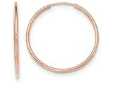 14k Rose Gold Polished Endless Tube Hoop Earrings style: TF786