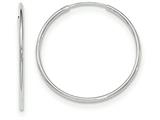 14k White Gold Polished Endless Tube Hoop Earrings style: TF788
