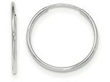 14k White Gold Polished Endless Tube Hoop Earrings style: TF789