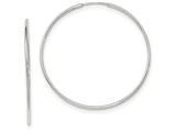 14k White Gold Polished Endless Tube Hoop Earrings style: TF793