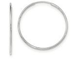 14k White Gold Polished Endless Tube Hoop Earrings style: TF795