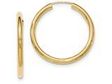 14k Polished Endless Tube Hoop Earrings style: TF809