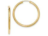 14k Polished Endless Tube Hoop Earrings style: TF810