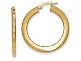 14k Polished And Textured Hoop Earrings style: TF830