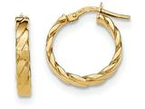 14k Patterned Hoop Earrings style: TF863