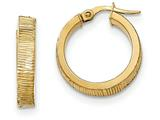 14k Bright Cut Hoop Earrings style: TF878
