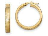 14k Bright Cut Hoop Earrings style: TF879