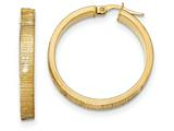14k Bright Cut Hoop Earrings style: TF880