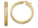 14k Diamond Cut Hoop Earrings style: TF880