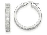 14k White Gold Bright Cut Hoop Earrings style: TF884
