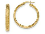 14k Textured Hoop Earrings style: TF919