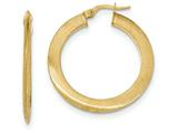 14k Satin Hoop Earrings style: TF942