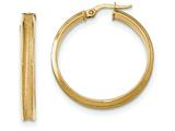14k Polished and Satin Concave Hoop Earrings style: TF952
