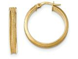 14k Polished and Satin Concave Hoop Earrings style: TF953