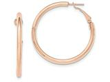 14k Rose Gold Hoop Earrings style: TF981