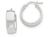 14k White Gold Hoop Earrings style: TF982