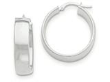14k White Gold Hoop Earrings style: TF983