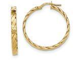 14k Patterned Hoop Earrings style: TF988